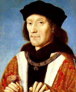 Clean shaven Henry VII